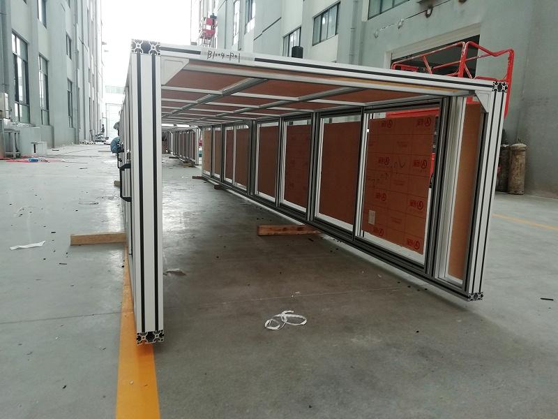 工业铝材加工框架现场