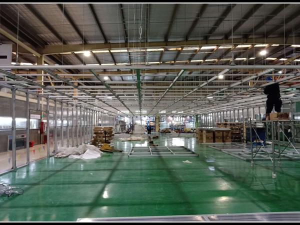 南京美诚铝业大型洁净棚定制安装案例解析