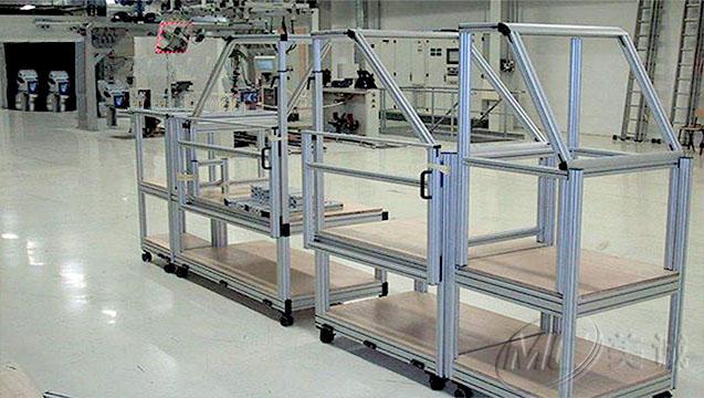 移动铝型材货架.