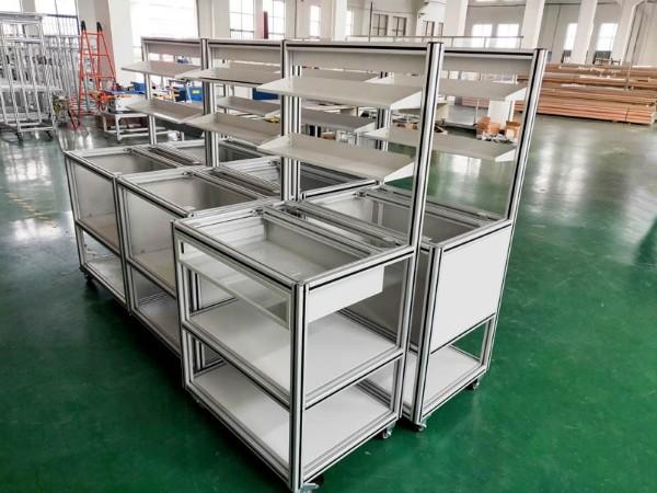 工业铝型材工作台组装现场