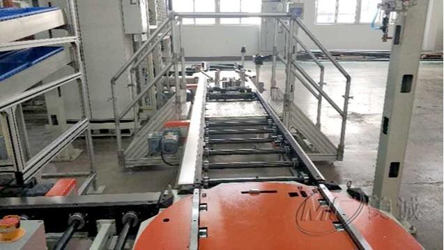 铝型材自动化流水线输送线车间