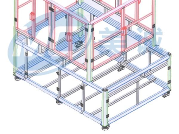 铝型材架子装配图纸