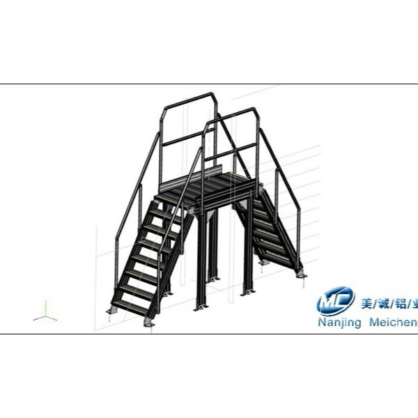 工业铝型材框架定制——铝型材过线梯