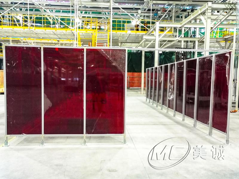 防护光屏铝型材围栏.