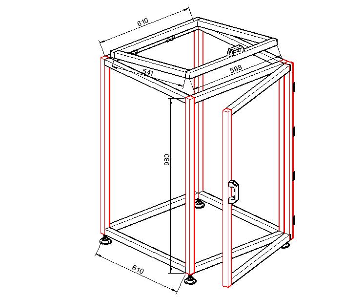 铝型材框架图纸
