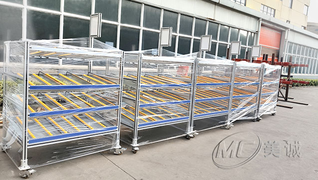 工业铝型材料架又称:AGV料架
