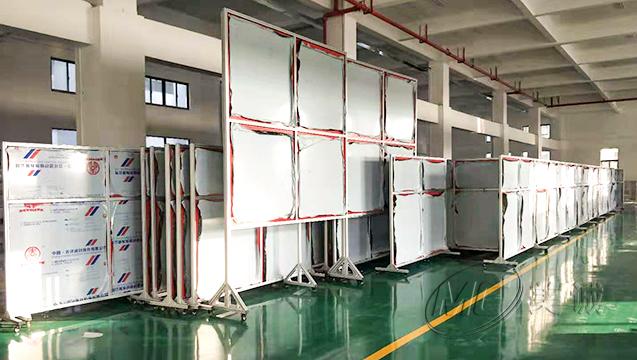 厂区移动铝型材屏风