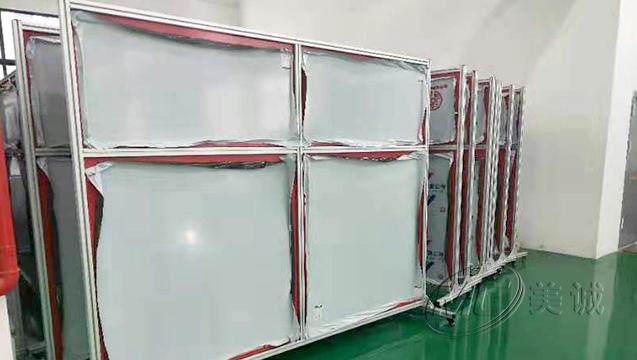 厂区移动铝型材屏风 一