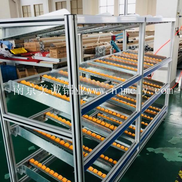 铝型材流利式货架功能和安装介绍