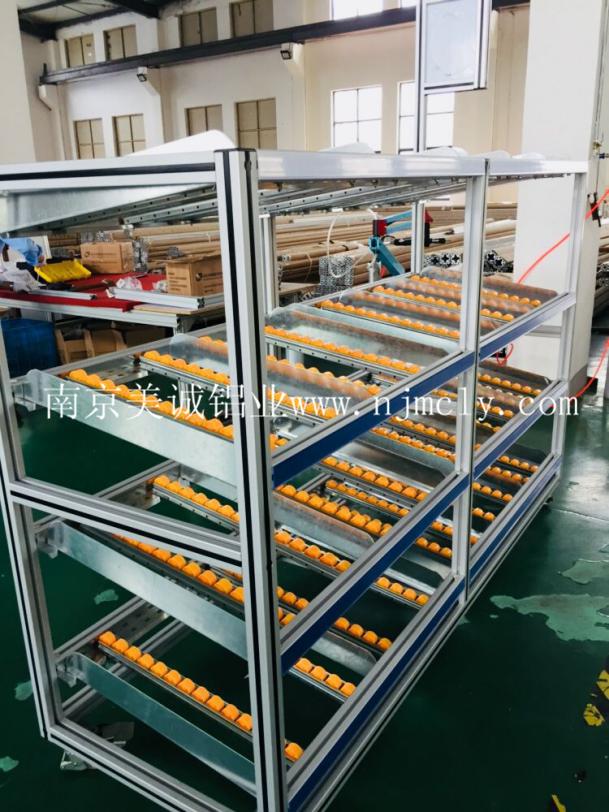 铝型材流利式货架功能和安装介绍01