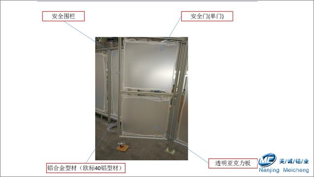工业铝型材框架分解图