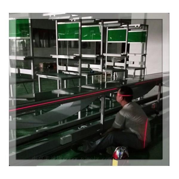 客户现场安装调试——铝型材皮带线工作台