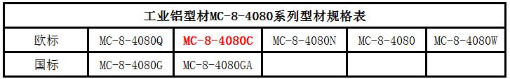 工业铝型材4080C