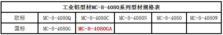 铝型材4080GA