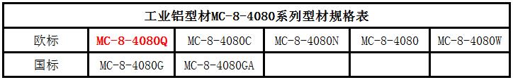 4080Q工业铝型材