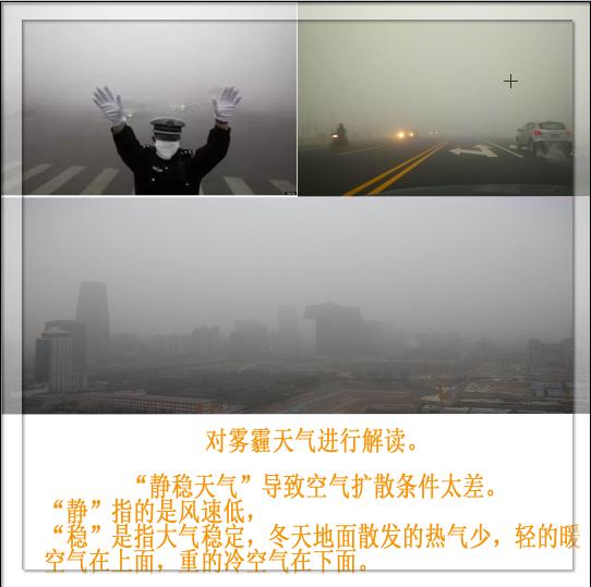 雾霾天气主要安全,拐弯人多慢行多观察
