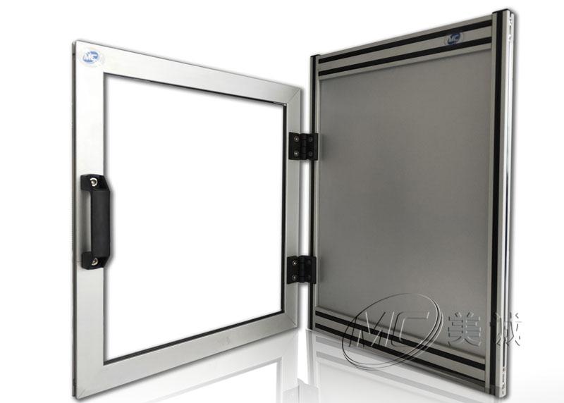 有机玻璃怎么安装到铝型材上的