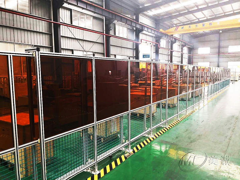 铝型材防弧光屏围栏
