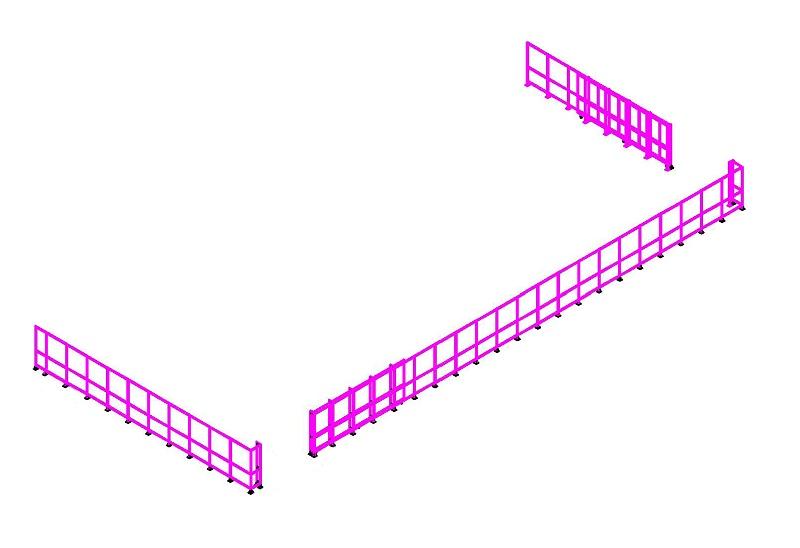 铝型材工业围栏图纸