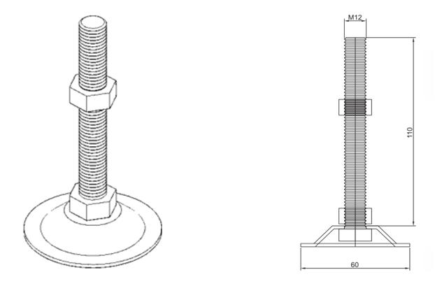蹄脚规格细节图
