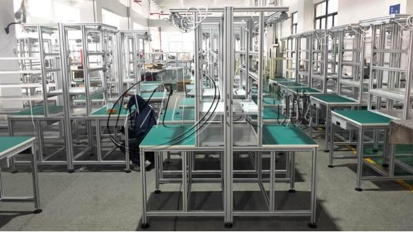 双面铝型材操作台