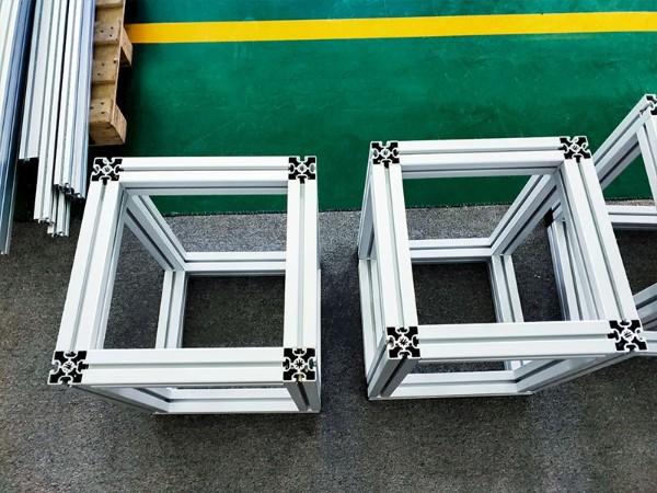 三种铝配件搞定铝型材小架子
