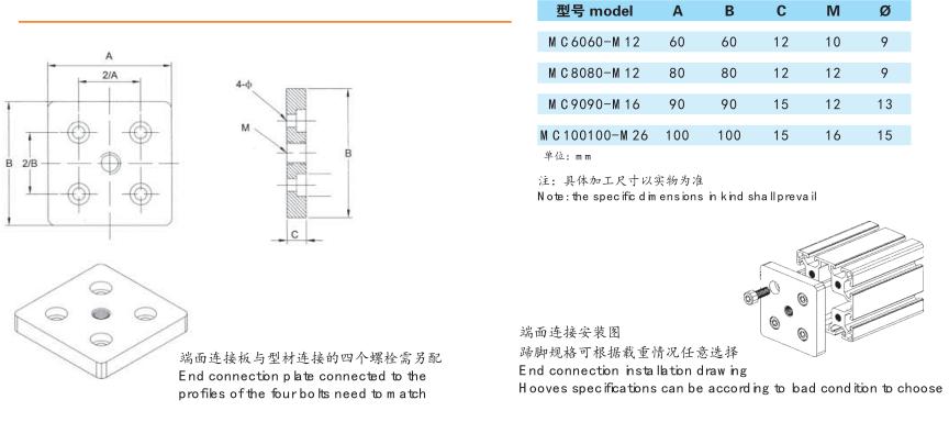 端面连接板安装图