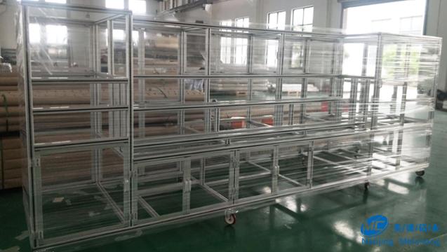 工业铝型材平板脚轮框架