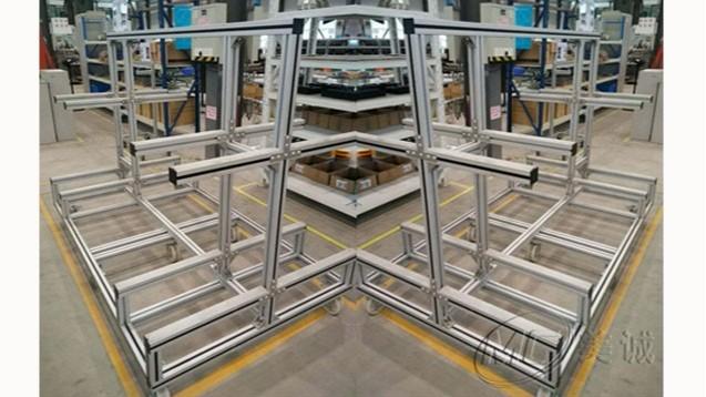 铝型材可移动货架